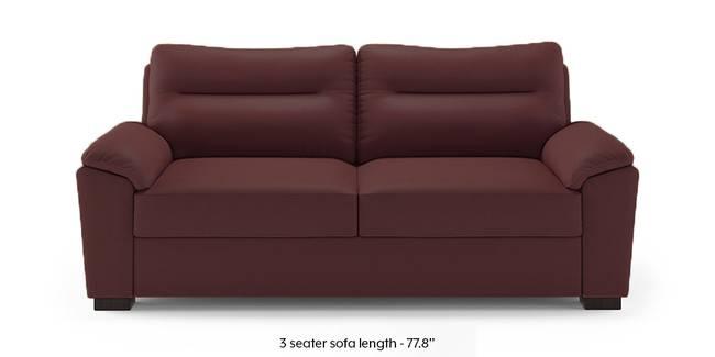 Adelaide Compact Leatherette Sofa (Burgundy) (1-seater Custom Set - Sofas, None Standard Set - Sofas, Burgundy, Leatherette Sofa Material, Compact Sofa Size, Soft Cushion Type, Regular Sofa Type)