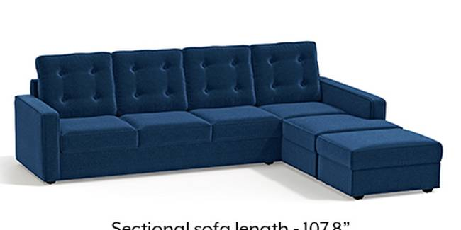 Apollo Sofa Set (Cobalt, Fabric Sofa Material, Regular Sofa Size, Soft Cushion Type, Sectional Sofa Type, Sectional Master Sofa Component, Tufted Back Type, Regular Back Height)