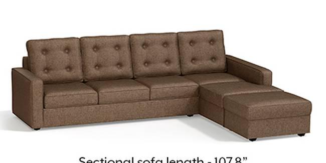 Apollo Sofa Set (Mocha, Fabric Sofa Material, Regular Sofa Size, Soft Cushion Type, Sectional Sofa Type, Sectional Master Sofa Component, Tufted Back Type, Regular Back Height)
