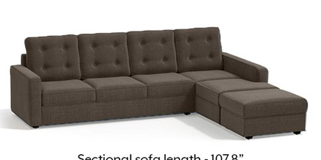 Apollo Sofa Set (Fabric Sofa Material, Regular Sofa Size, Soft Cushion Type, Sectional Sofa Type, Sectional Master Sofa Component, Pine Brown, Tufted Back Type, Regular Back Height)