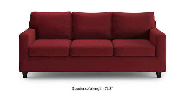 Walton Sofa (Sangria Red) (1-seater Custom Set - Sofas, None Standard Set - Sofas, Sangria Red, Fabric Sofa Material, Regular Sofa Size, Regular Sofa Type)