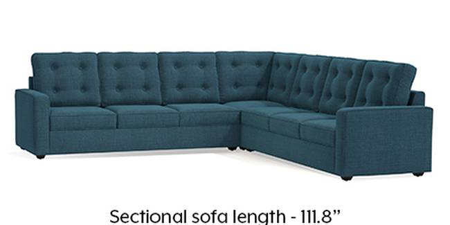 Apollo Sofa Set (Fabric Sofa Material, Regular Sofa Size, Soft Cushion Type, Corner Sofa Type, Corner Master Sofa Component, Colonial Blue, Tufted Back Type, Regular Back Height)