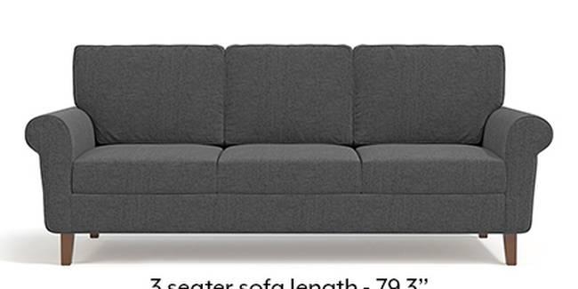 Oxford Sofa (Steel Grey, Fabric Sofa Material, Regular Sofa Size, Soft Cushion Type, Regular Sofa Type, Master Sofa Component)