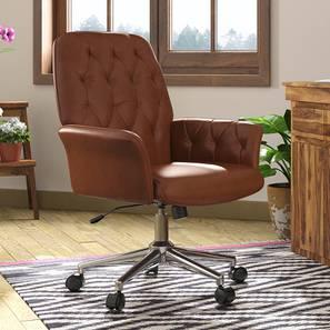 Helga Study Chair (Tan) by Urban Ladder