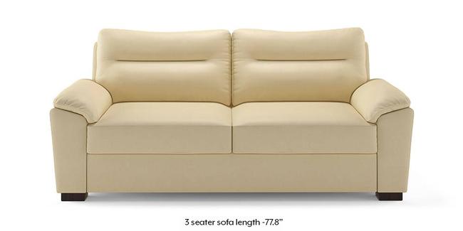 Adelaide Compact Leatherette Sofa (Cream) (Cream, 1-seater Custom Set - Sofas, None Standard Set - Sofas, Leatherette Sofa Material, Compact Sofa Size, Soft Cushion Type, Regular Sofa Type)