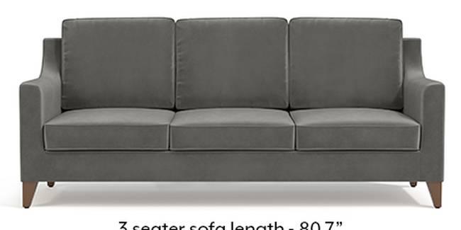 Abbey Sofa (Fabric Sofa Material, Regular Sofa Size, Soft Cushion Type, Regular Sofa Type, Master Sofa Component, Ash Grey Velvet)