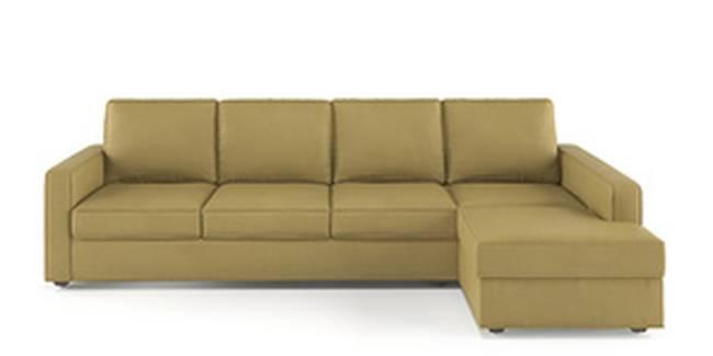 Apollo Sofa Set (Butterscotch, Leatherette Sofa Material, Regular Sofa Size, Soft Cushion Type, Sectional Sofa Type, Sectional Master Sofa Component, Regular Back Type, Regular Back Height)