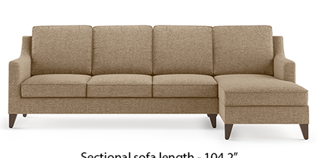 Abbey Sofa (Fabric Sofa Material, Regular Sofa Size, Soft Cushion Type, Sectional Sofa Type, Sectional Master Sofa Component, Safari Brown)