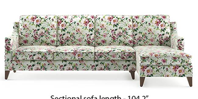Abbey Sofa (Fabric Sofa Material, Regular Sofa Size, Soft Cushion Type, Sectional Sofa Type, Sectional Master Sofa Component, Clara Velvet)