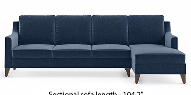 Abbey Sofa (Fabric Sofa Material, Regular Sofa Size, Soft Cushion Type, Sectional Sofa Type, Sectional Master Sofa Component, Lapis Blue)
