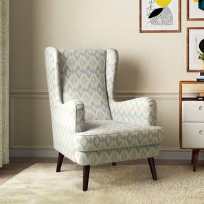 Genoa Wing Chair (Shoreline Ikat) by Urban Ladder - Design 1 Full View - 284360