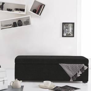 Carson Upholstered Storage Bench (Asphalt Grey) by Urban Ladder