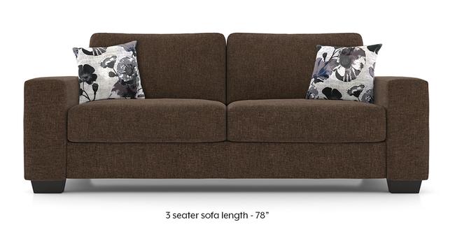 Leslie Sofa (Chestnut Brown) (3-seater Custom Set - Sofas, None Standard Set - Sofas, Chestnut Brown, Fabric Sofa Material, Regular Sofa Size, Regular Sofa Type)