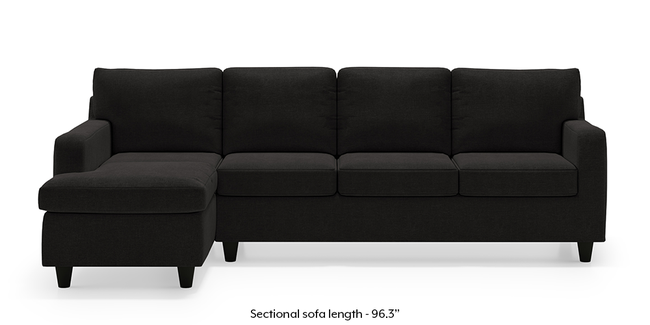 Walton Sectional Sofa (Asphalt Grey) (None Custom Set - Sofas, Left Aligned 3 seater + Chaise Standard Set - Sofas, Fabric Sofa Material, Regular Sofa Size, Sectional Sofa Type, Asphalt Grey)