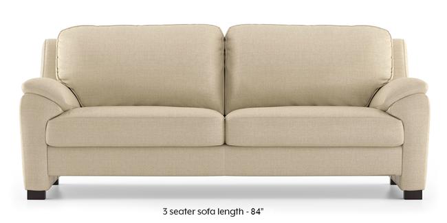 Farina Sofa (Pearl) (Pearl, 3-seater Custom Set - Sofas, None Standard Set - Sofas, Fabric Sofa Material, Regular Sofa Size, Regular Sofa Type)