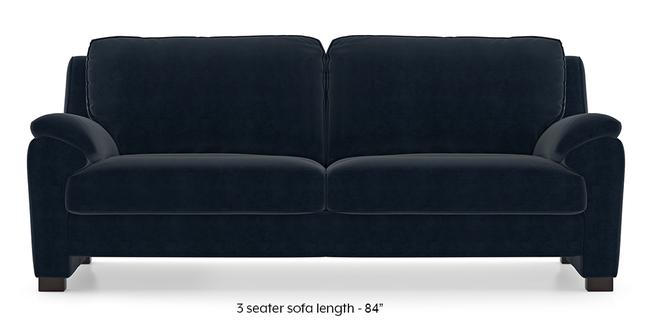 Farina Sofa (Sea Port Blue Velvet) (3-seater Custom Set - Sofas, None Standard Set - Sofas, Fabric Sofa Material, Regular Sofa Size, Regular Sofa Type, Sea Port Blue Velvet)
