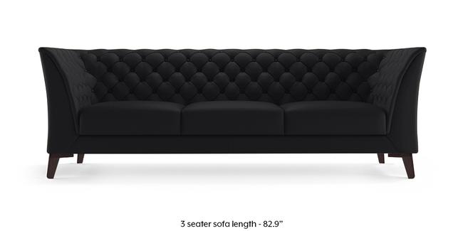 Weston Half Leather Sofa (Licorice Italian Leather) (1-seater Custom Set - Sofas, None Standard Set - Sofas, Licorice, Regular Sofa Size, Regular Sofa Type, Leather Sofa Material)