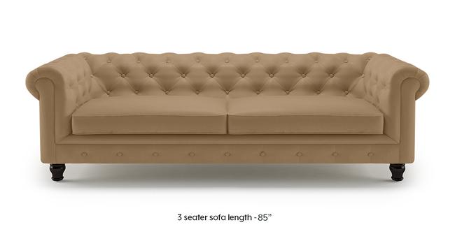 Winchester Half Leather Sofa (Camel Italian Leather) (2-seater Custom Set - Sofas, None Standard Set - Sofas, Camel, Regular Sofa Size, Regular Sofa Type, Leather Sofa Material)