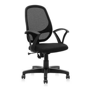 Elian Study Chair (Black) by Urban Ladder - Front View Design 1 - 297541
