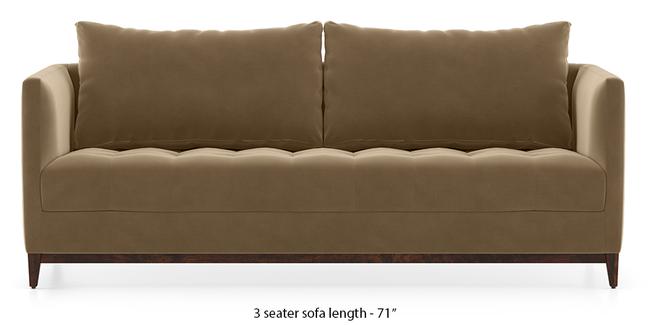 Florence Compact Sofa (Fawn Velvet) (1-seater Custom Set - Sofas, None Standard Set - Sofas, Fabric Sofa Material, Regular Sofa Size, Regular Sofa Type, Fawn Velvet)