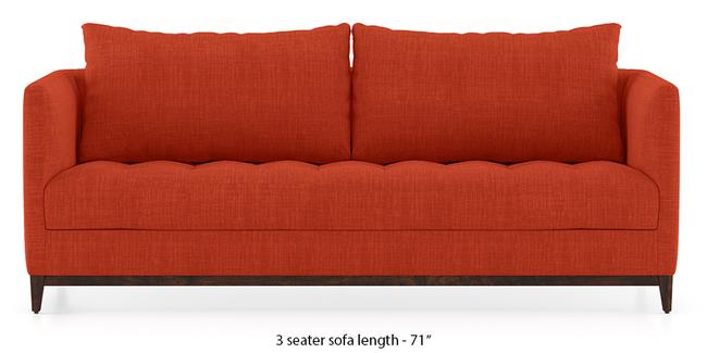 Florence Compact Sofa (Lava Rust) (1-seater Custom Set - Sofas, None Standard Set - Sofas, Lava, Fabric Sofa Material, Regular Sofa Size, Regular Sofa Type)