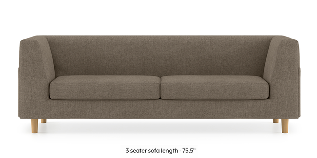 Rubik Sofa (Mist Brown) (3-seater Custom Set - Sofas, None Standard Set - Sofas, Fabric Sofa Material, Regular Sofa Size, Regular Sofa Type, Mist Brown)