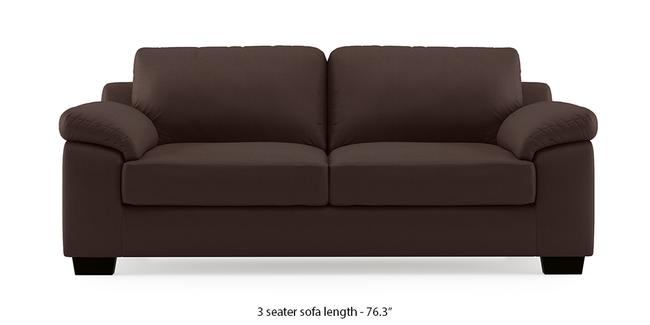 Esquel Leatherette Sofa (Chocolate) (Chocolate, 3-seater Custom Set - Sofas, None Standard Set - Sofas, Leatherette Sofa Material, Regular Sofa Size, Regular Sofa Type)