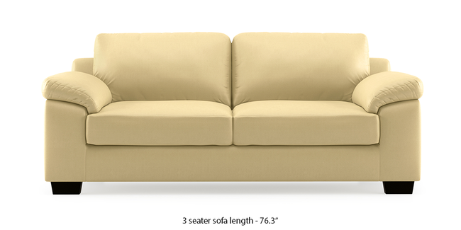 Esquel Leatherette Sofa (Cream) (Cream, 2-seater Custom Set - Sofas, None Standard Set - Sofas, Leatherette Sofa Material, Regular Sofa Size, Regular Sofa Type)
