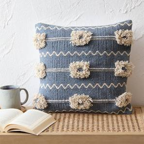 "Vayan Cushion Cover (Blue, 41 x 41 cm  (16"" X 16"") Cushion Size) by Urban Ladder - Front View Design 1 - 302180"
