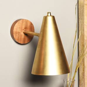 Icosa Wall Lamp (Gold Finish) by Urban Ladder - Design 1 Full View - 302317