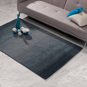 "Aurora Hand Loom Carpet (152 x 236 cm  (60 x 93"") Carpet Size, Royal Blue) by Urban Ladder - Design 1 Pic - 30316"
