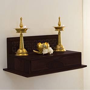 Devoto Prayer Shelf (Mahogany Finish) by Urban Ladder - - 39701