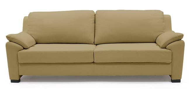 Farina Half Leather Sofa (Camel Italian Leather) (Camel, Regular Sofa Size, Regular Sofa Type, Leather Sofa Material)
