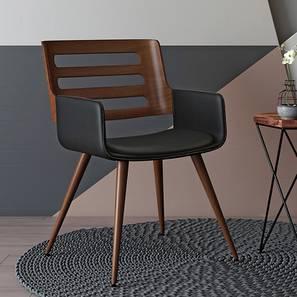 Yuten Lounge Chair (Walnut Finish) by Urban Ladder - Front View Design 1 - 119495