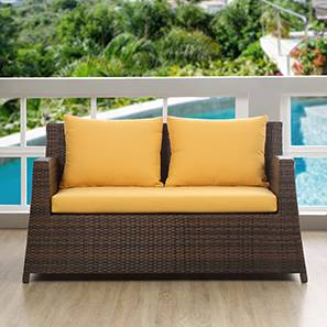 Samui Patio 2 Seater Chair (Brown Finish) by Urban Ladder - - 83132