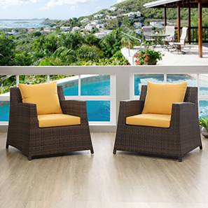 Samui Patio Chair - Set Of 2 (Brown Finish) by Urban Ladder - - 83150