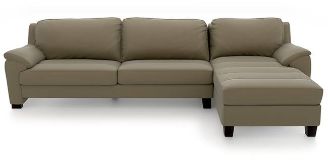 Farina Half Leather Sectional Sofa (Cappuccino Italian Leather) (Cappuccino, Regular Sofa Size, Sectional Sofa Type, Leather Sofa Material)