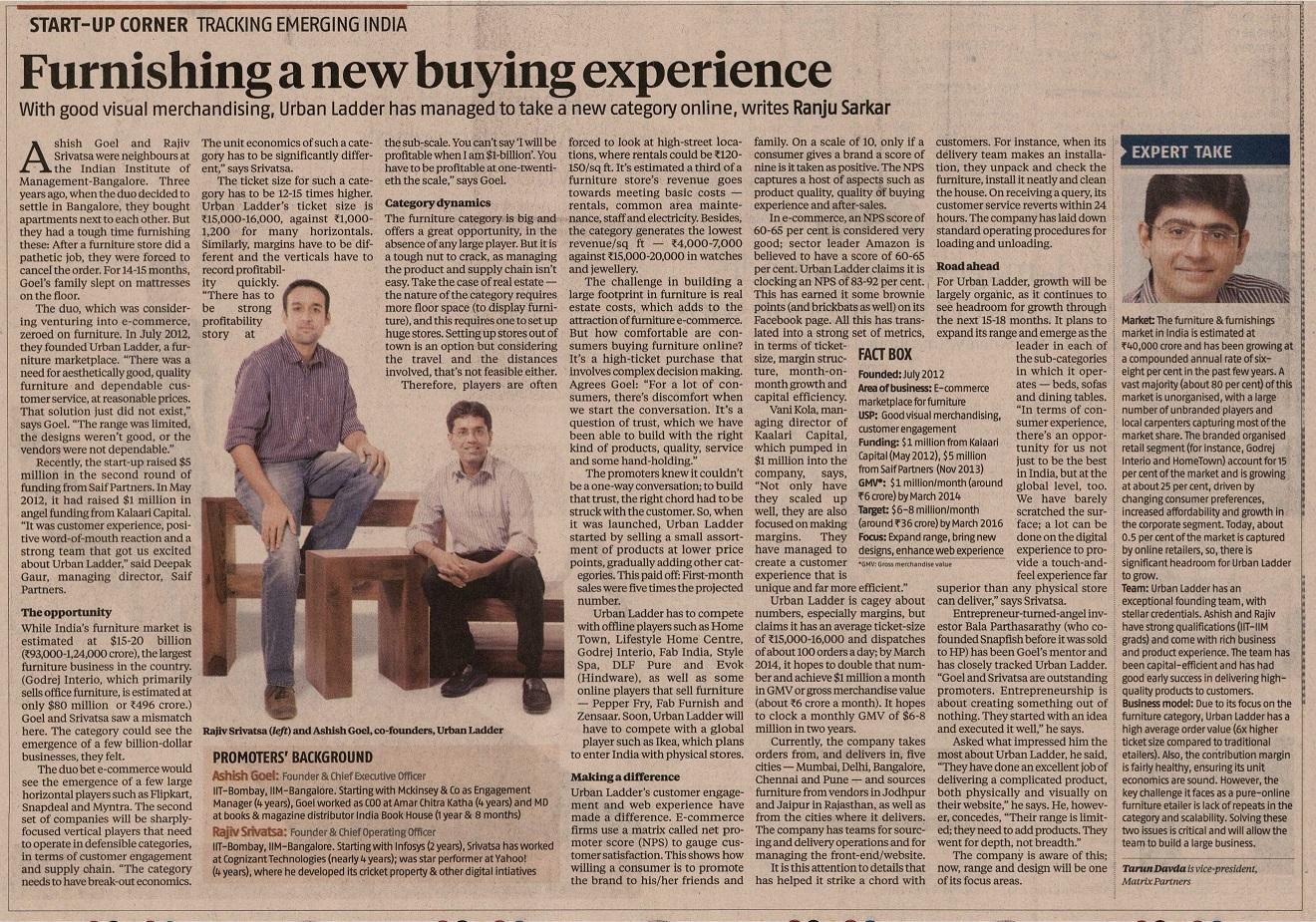 Furishing a new buying experience urban ladder