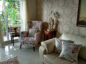 """""""The Genoa wing chair, provides a cosy nook in our living room. The flower pattern is perfect for the corner close to our sit out with greenery.. We're loving this floral freshness """" - #ULStory by Anindya via Facebook"""