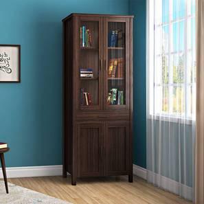 Norland Bookshelf (65-book capacity) (Dark Walnut Finish) by Urban Ladder