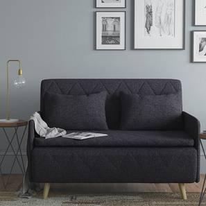 Makati Sofa Cum Bed (Dark Grey) by Urban Ladder - Full View Design 1 - 140239