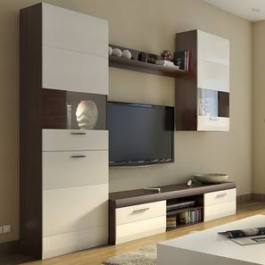 Syracuse TV unit (Walnut Finish) by Urban Ladder - Full View Design 1 - 105072