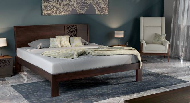 Alaca Bed (Mahogany Finish, King Bed Size) by Urban Ladder