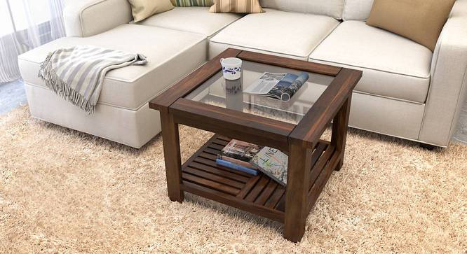 Claire Coffee Table (Teak Finish, Compact Size) by Urban Ladder