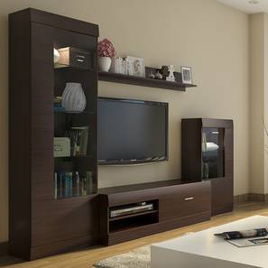 Interior design furniture New Ferdinand Entertainment Unit Set dark Oak Finish Living Room Furniture Designs Check Interior Design Ideas Urban