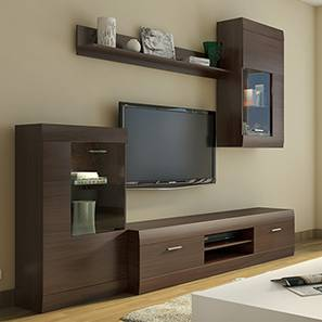 Ferdinand Entertainment Unit Set 1 (Dark Oak Finish) by Urban Ladder - Full View Design 1 - 106293