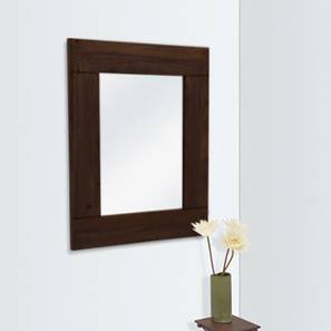 Venus Wall Mirror (Mahogany Finish, Square Mirror Shape) by Urban Ladder
