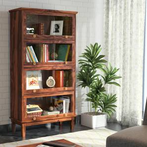 Malabar Barrister Bookshelf (60-Book Capacity) (Teak Finish) by Urban Ladder - Full View Design 1 - 108898