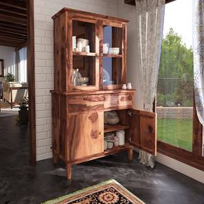 Malabar Crockery Unit (Teak Finish) by Urban Ladder