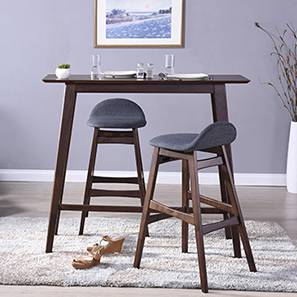 Beke Bar Stools - Set of 2 (Dark Walnut Finish) by Urban Ladder - - 114033